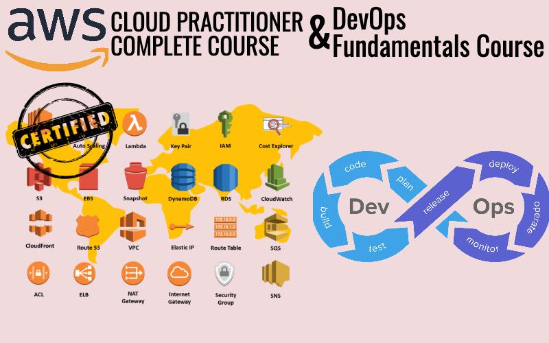 AWS Cloud Practitioner and DevOps Basics Bundle (2 Courses)