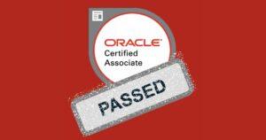 oracle certified associate