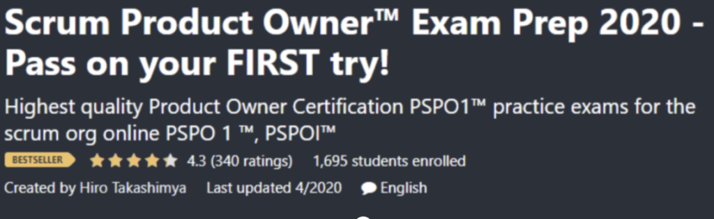 PSPO Udemy Course