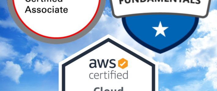 AWS Certified Cloud Practitioner, Microsoft Azure Fundamentals, Oracle Cloud Infrastructure Foundations 2020 Associate