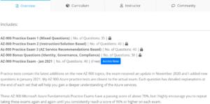 AZ-900 Practice Exams