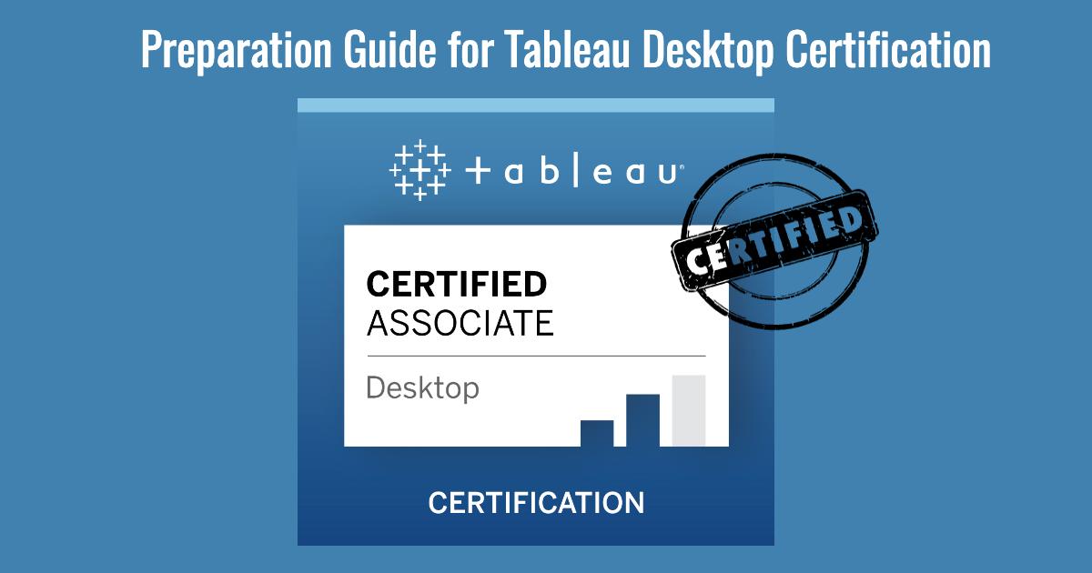 Preparation Guide for Tableau desktop specialist certification